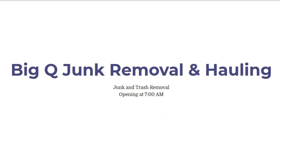 Big Q junk Removal & Hauling primary image