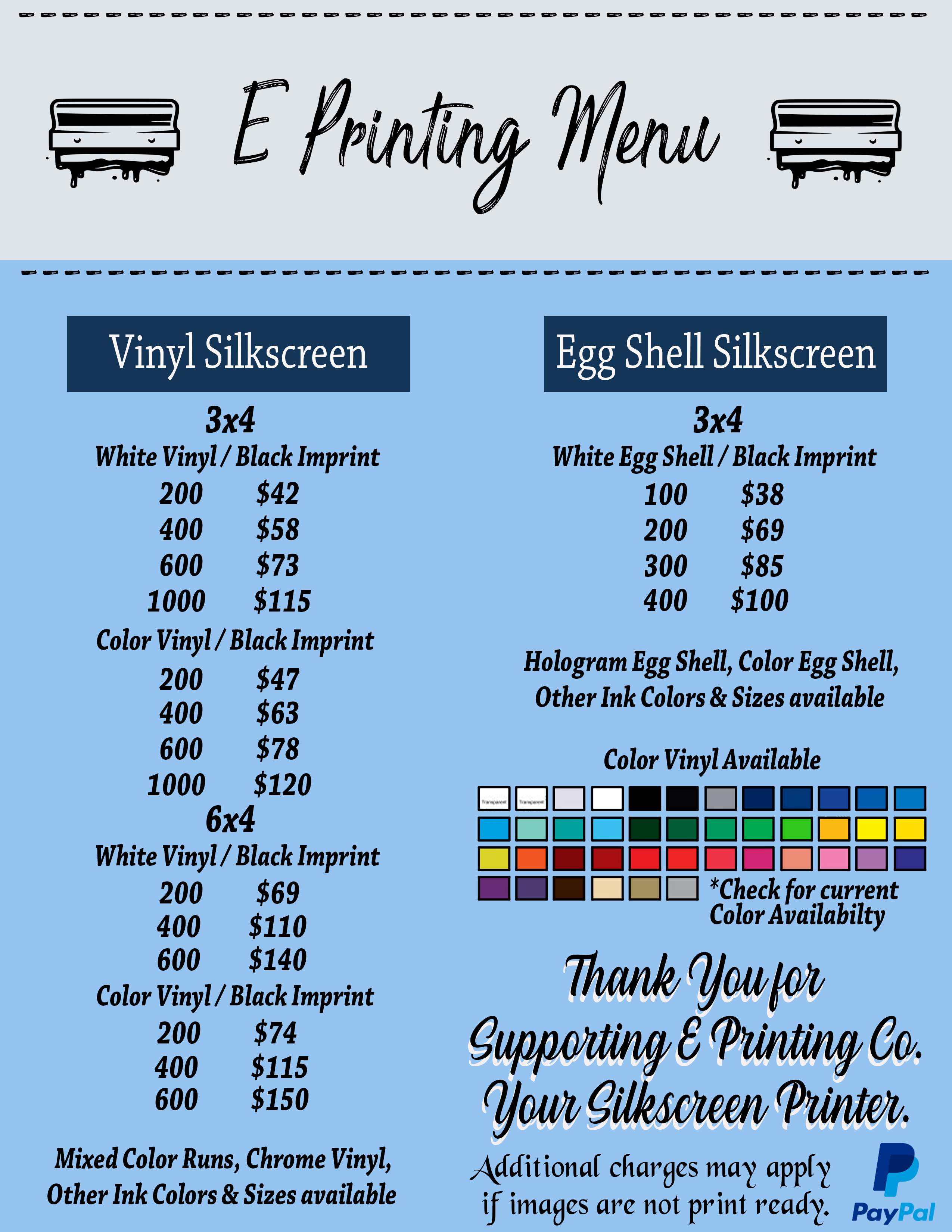 E Printing image