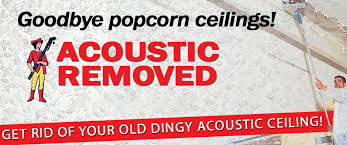 Removing Painted Popcorn Ceiling image