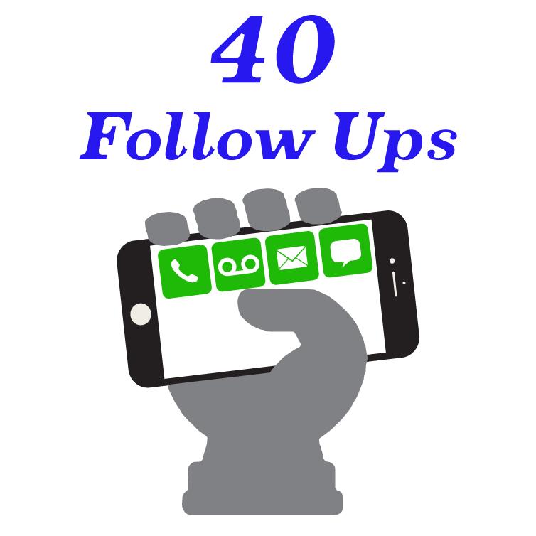40 Follow Ups  image