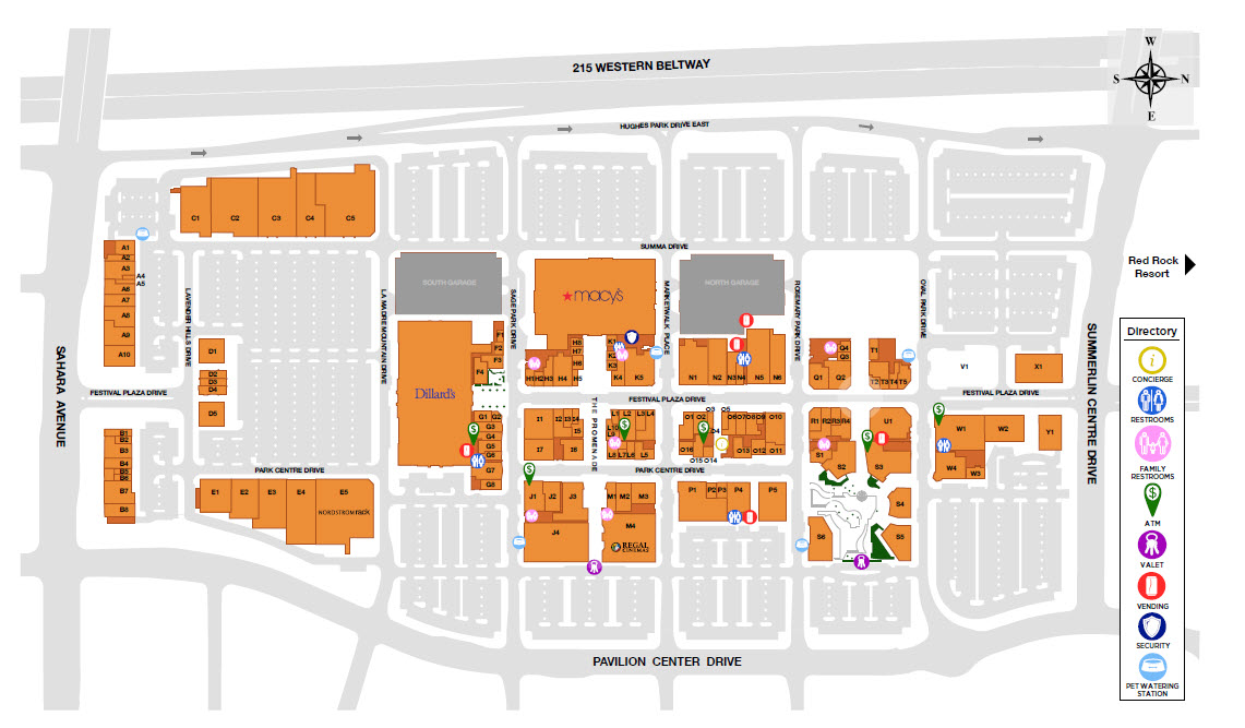 Downtown Summerlin Store Map