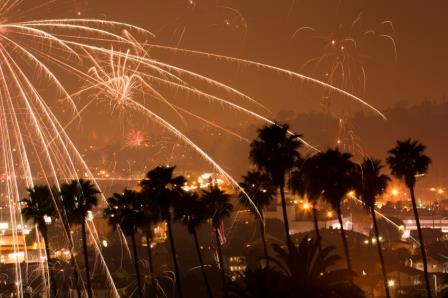 Primm Nevada Fireworks Dusk