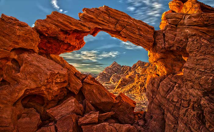 Arch at valley of fire