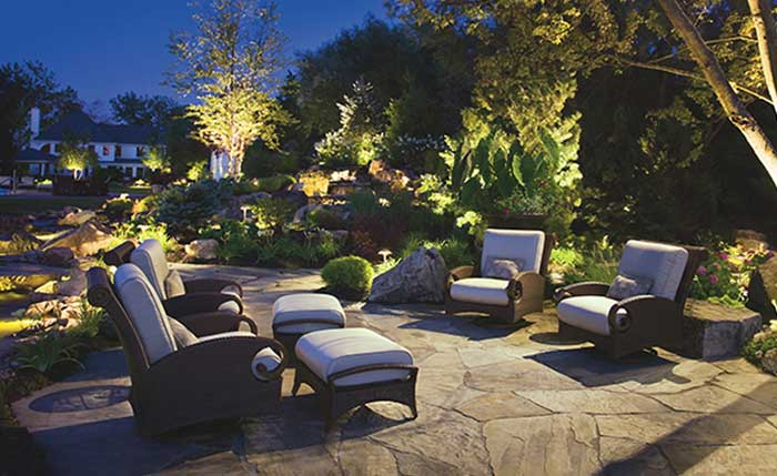 Backyard landscaped