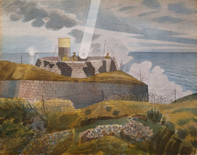 Searchlight at Dusk, 1941 by Eric Ravilious (d. 1942)