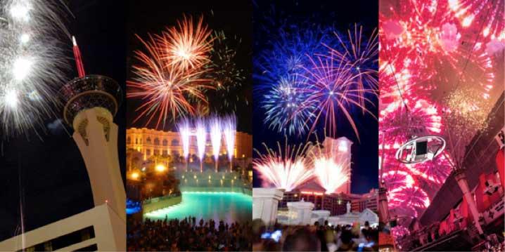 Scenes of Las Vegas Fireworks