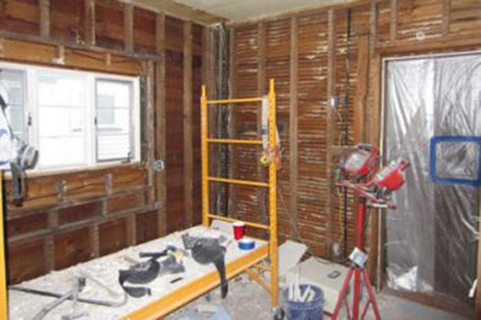 Home under remodel