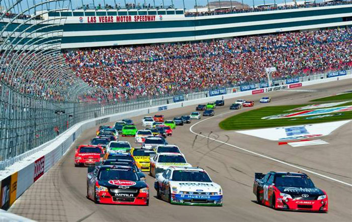 Nascar at the las vegas motor speedway