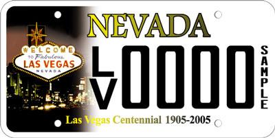 Nevada dmv license plate