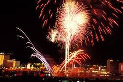 Laughlin Fireworks at Night