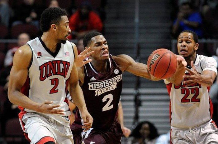 UNLV running rebels basketball game with Mississippi State
