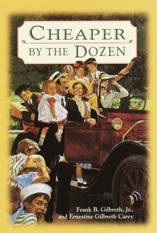 "Click to view a larger cover image of ""Cheaper by the Dozen"" by Frank ..."