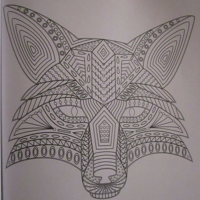 And Yet Another Fox For Greg There Are So Many Foxen In This Coloring Book I Fear Will Not Be Able To Get Them All By Months End Cuz