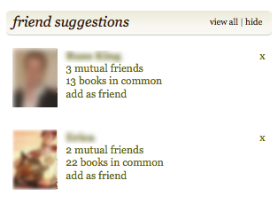 Goodreads friend suggestions