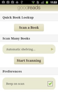 Announcing Barcode Scanner in the Goodreads Android app
