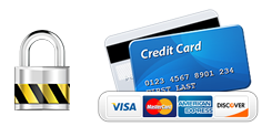 Payment is processed securely via credit card