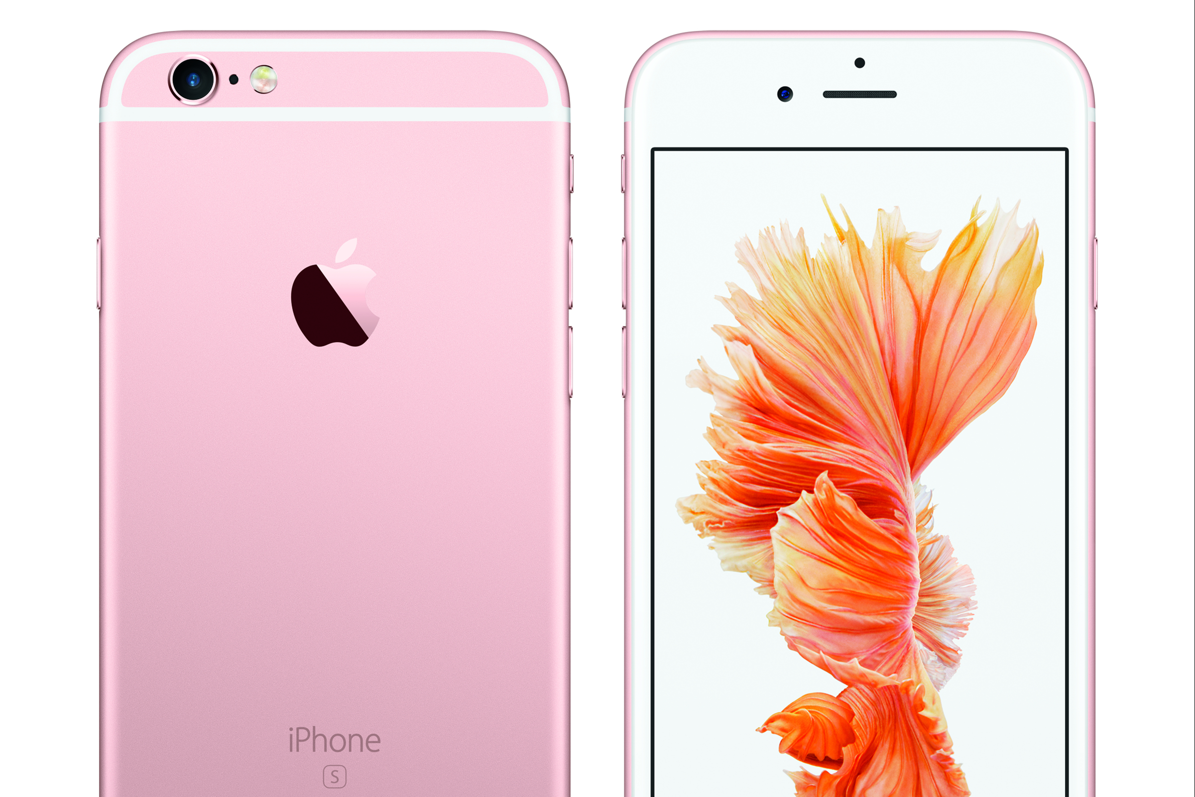Front and rear cameras of Apple's iPhone 6S