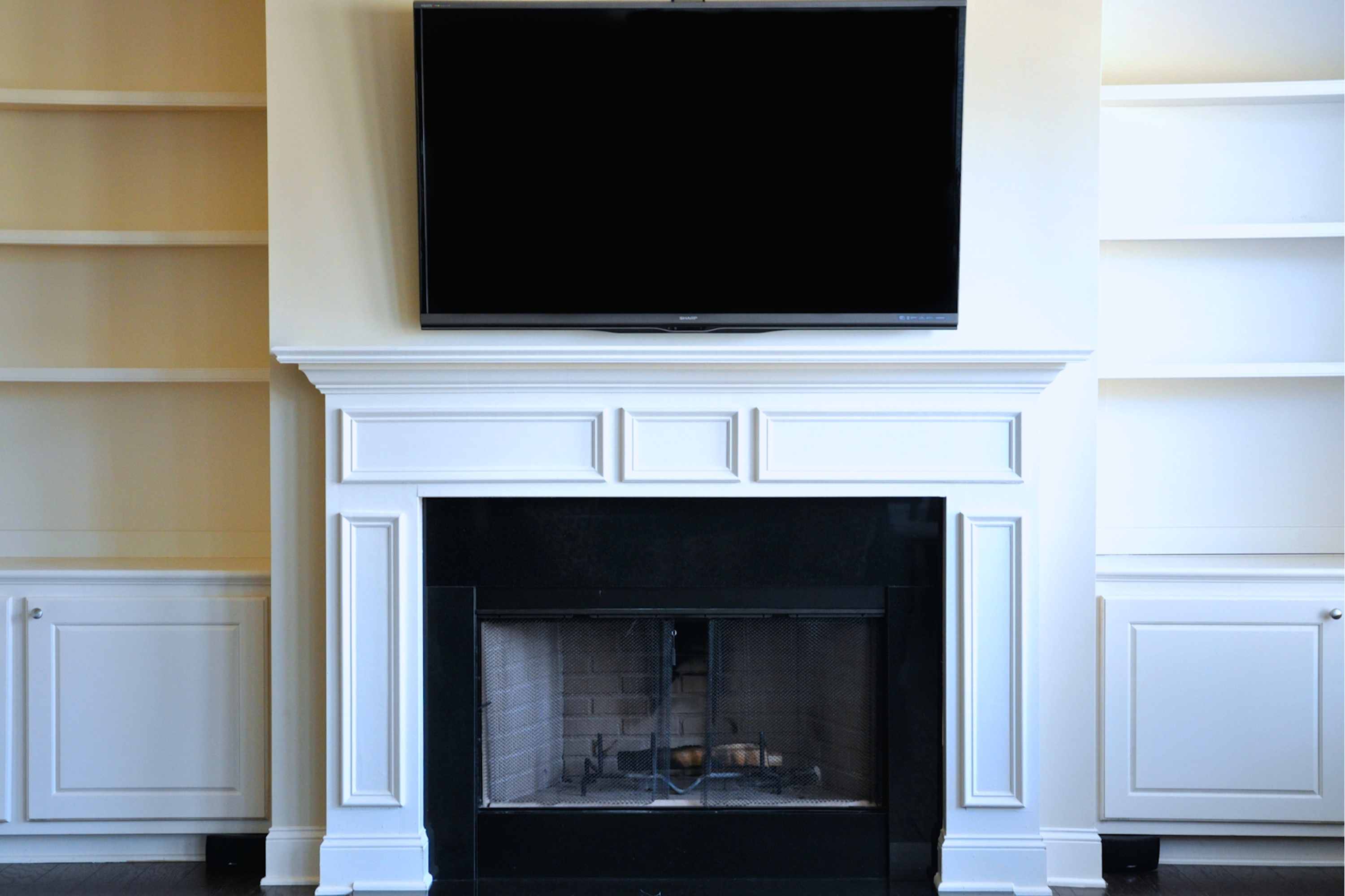 how to mount a flat screen over the fireplace and hide the wires
