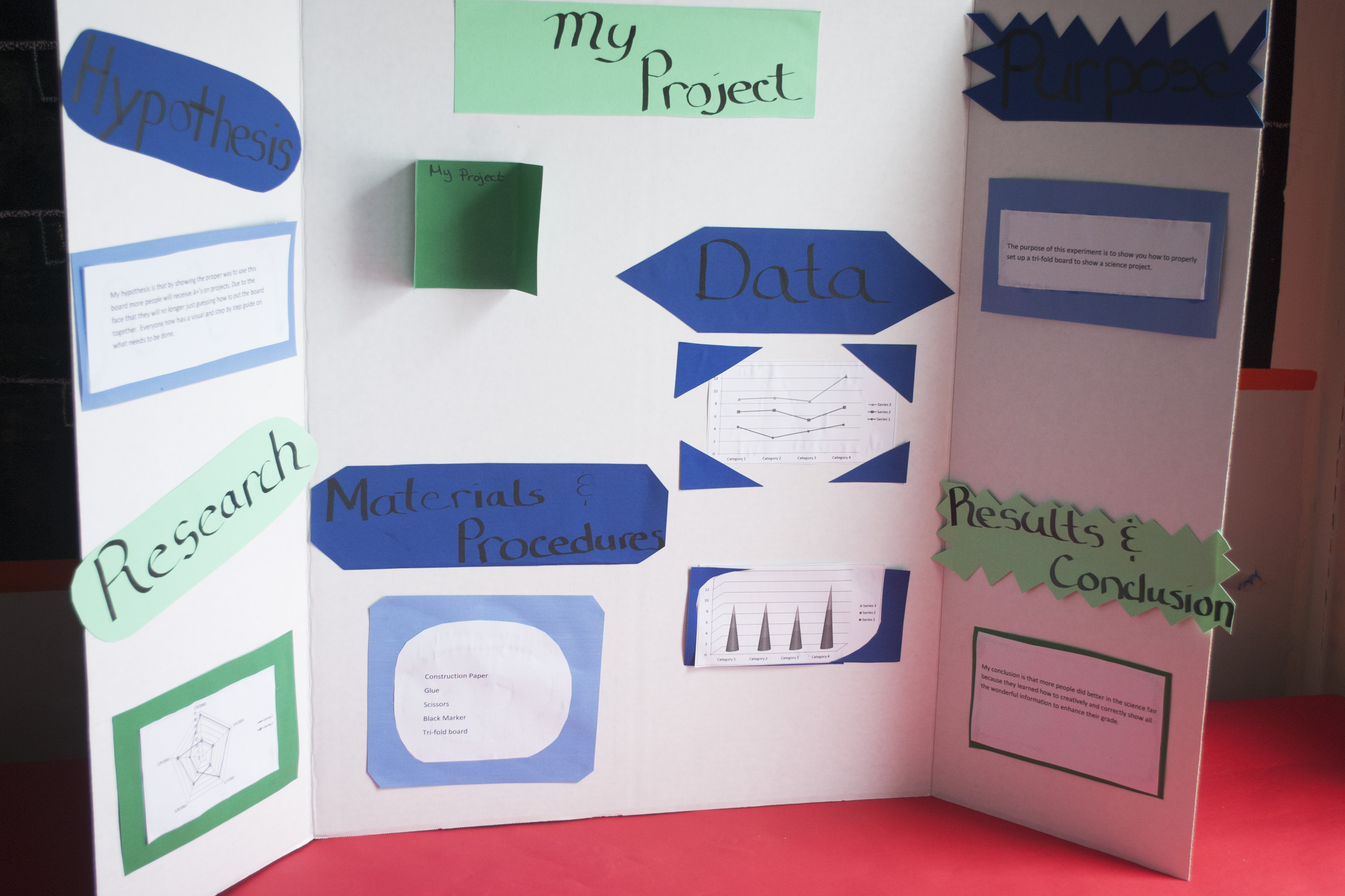 how to set up a science fair project board synonym - Tri Fold Display Board Design Ideas