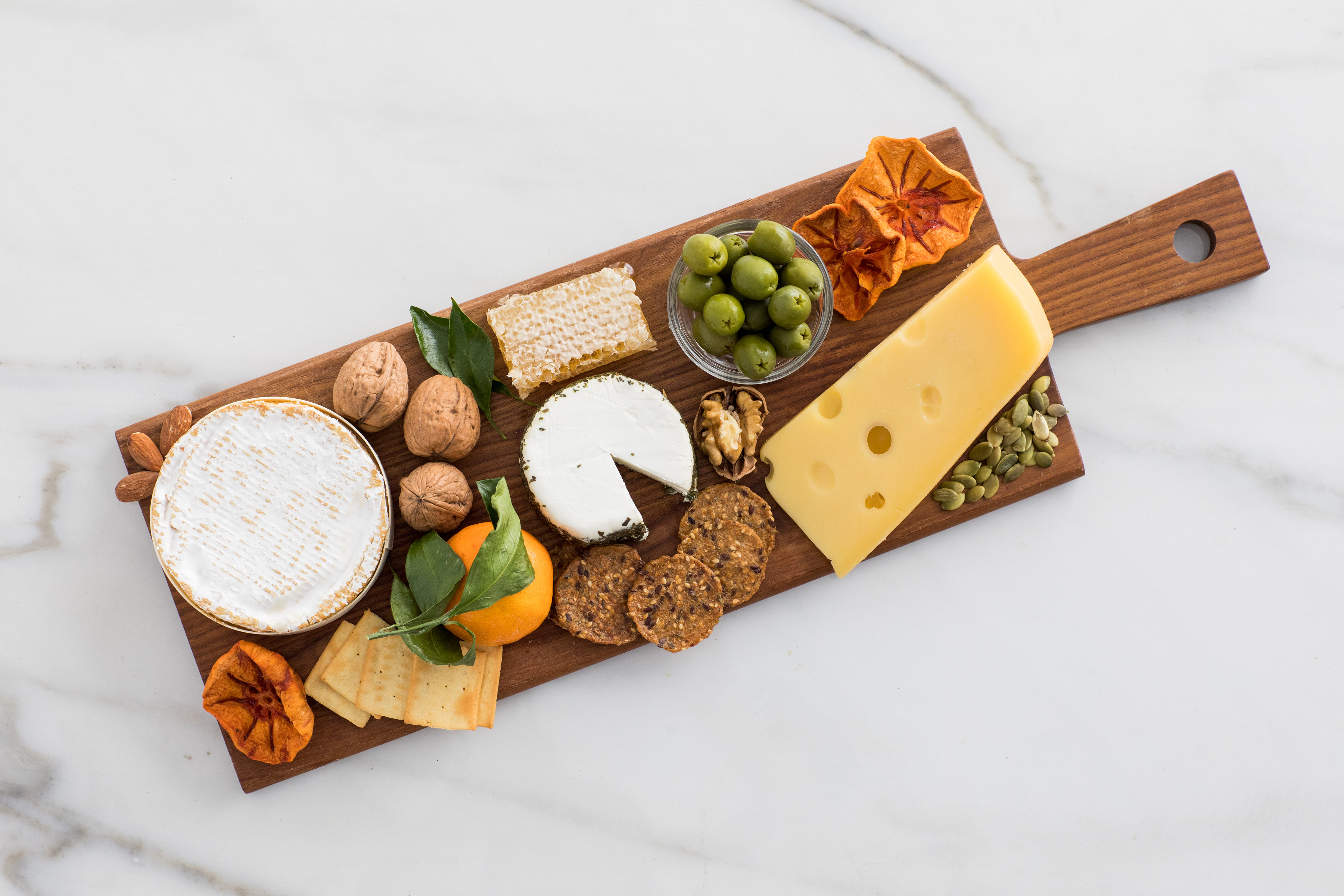 cheese on cheese board