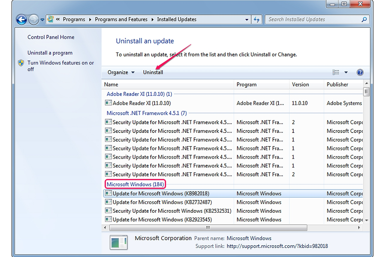 How to Remove Windows 7 Updates | It Still Works