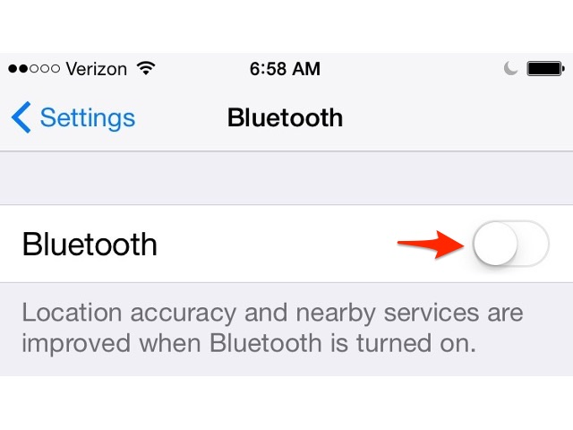 Enable iPhone Bluetooth