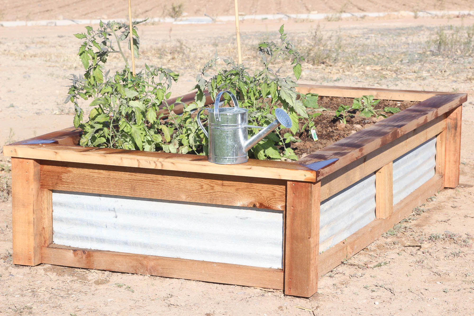 Picture of: How To Build Raised Garden Beds With Corrugated Metal Ehow