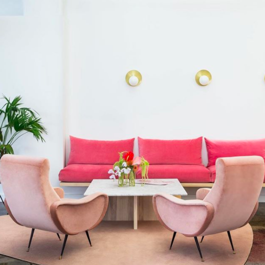 Astounding All Pink Everything Makes For An Unforgettable Design Hunker Ibusinesslaw Wood Chair Design Ideas Ibusinesslaworg