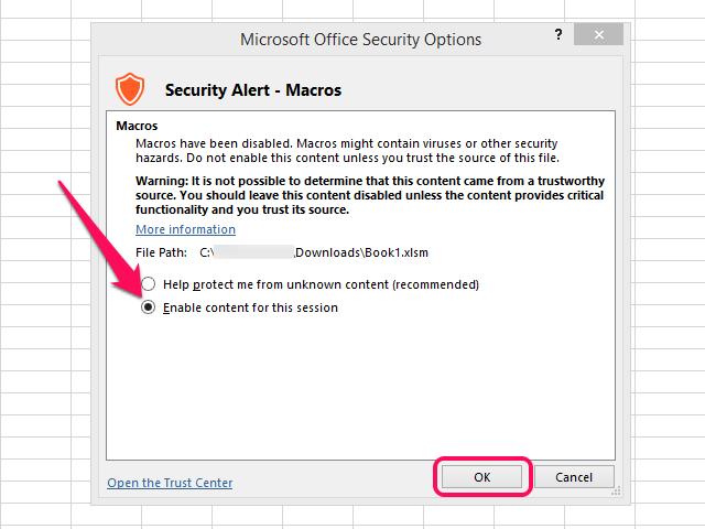 microsoft word macro enabled template - excel vba open workbook enable macros how to create a