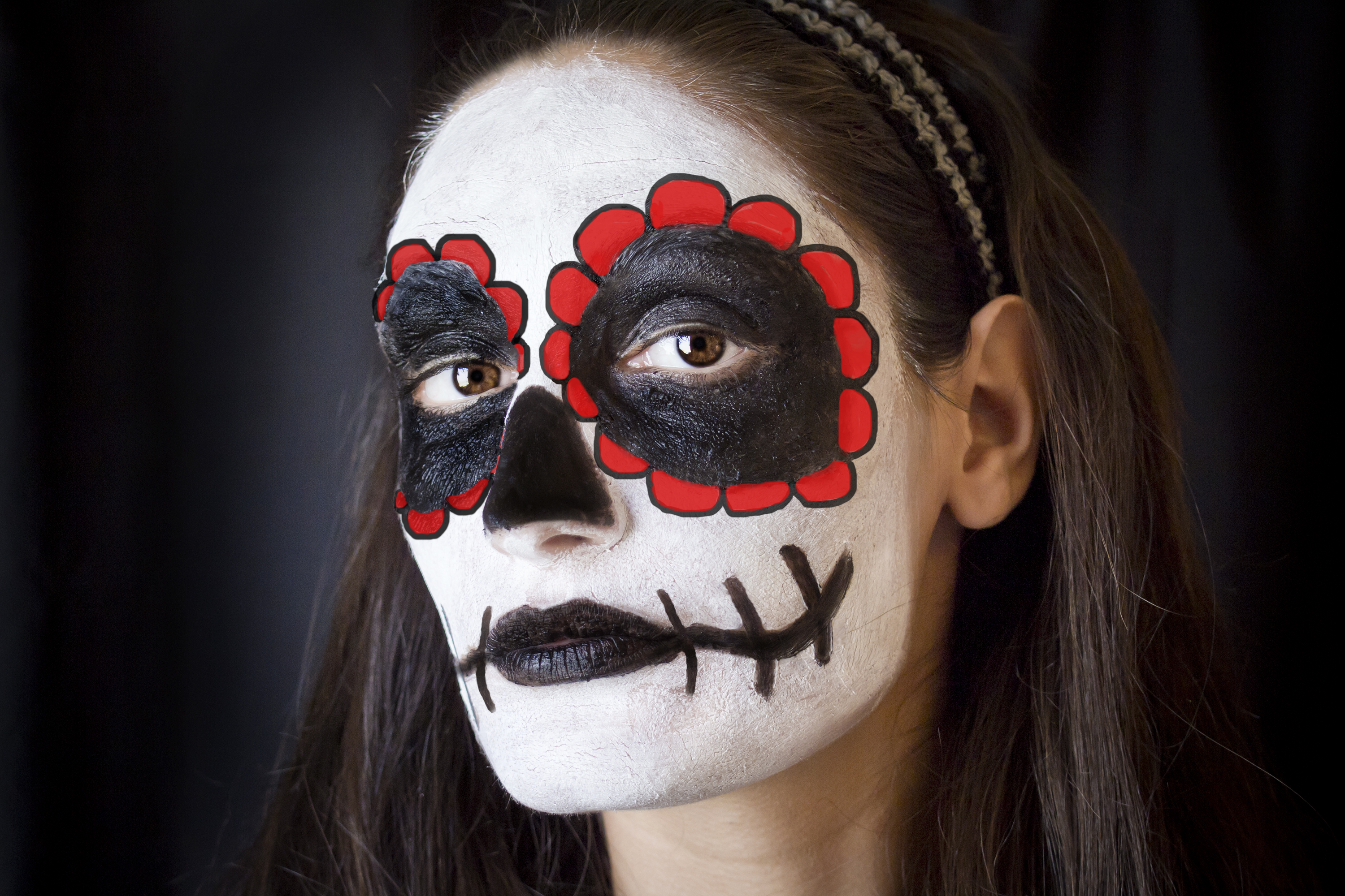 How To Face Paint For The Day Of The Dead Leaftv