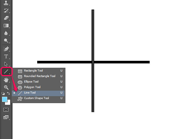 Selecting the Line Tool