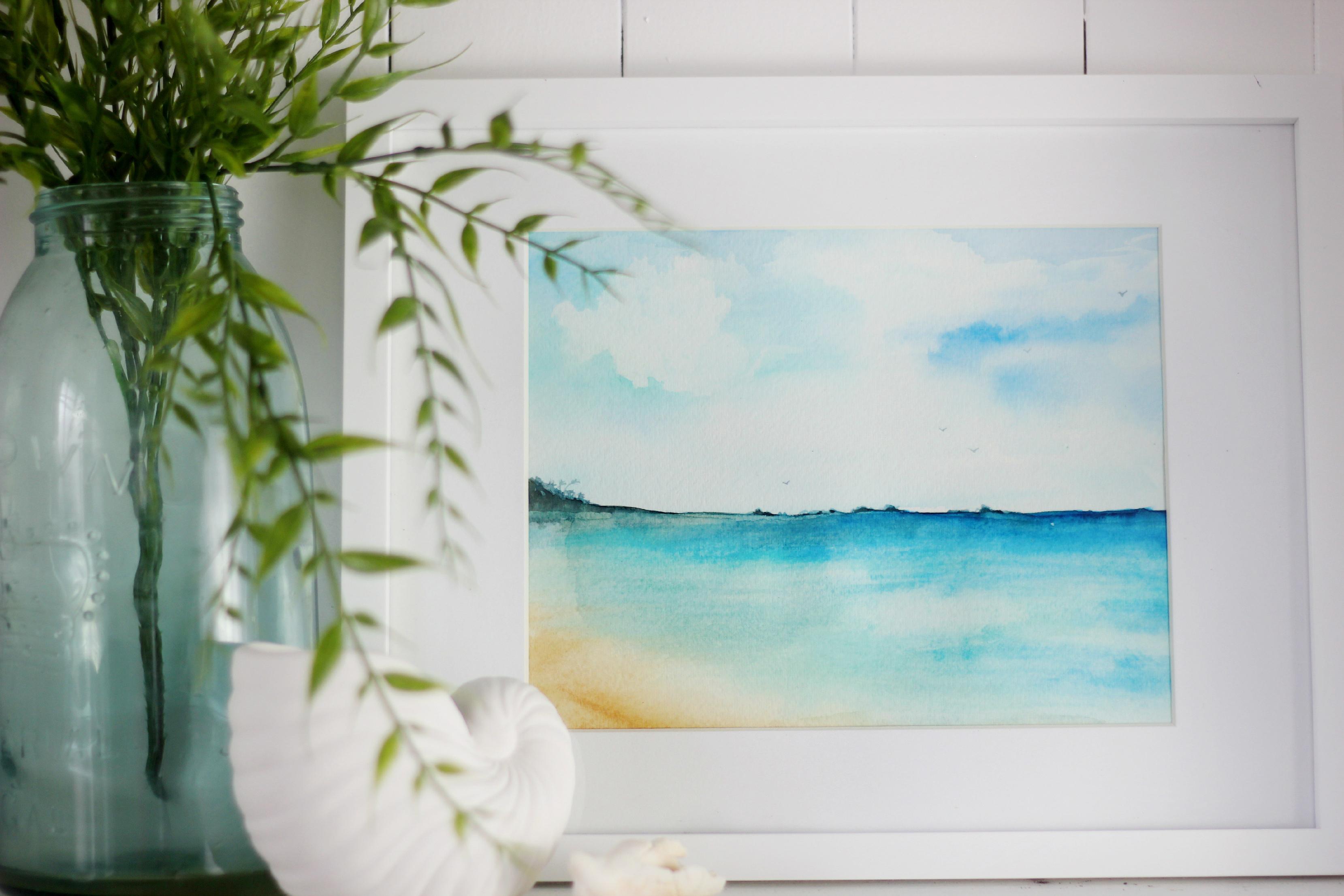 Beginner Beach Sunset Watercolor Painting Beach Watercolor Ocean Painting Sunrise Painting Sunset Painting Easy Sunset Nature Beach Sunset Painting Sunset Painting Seascape Paintings On Canvas Ocean Beach Waves Original Acrylic