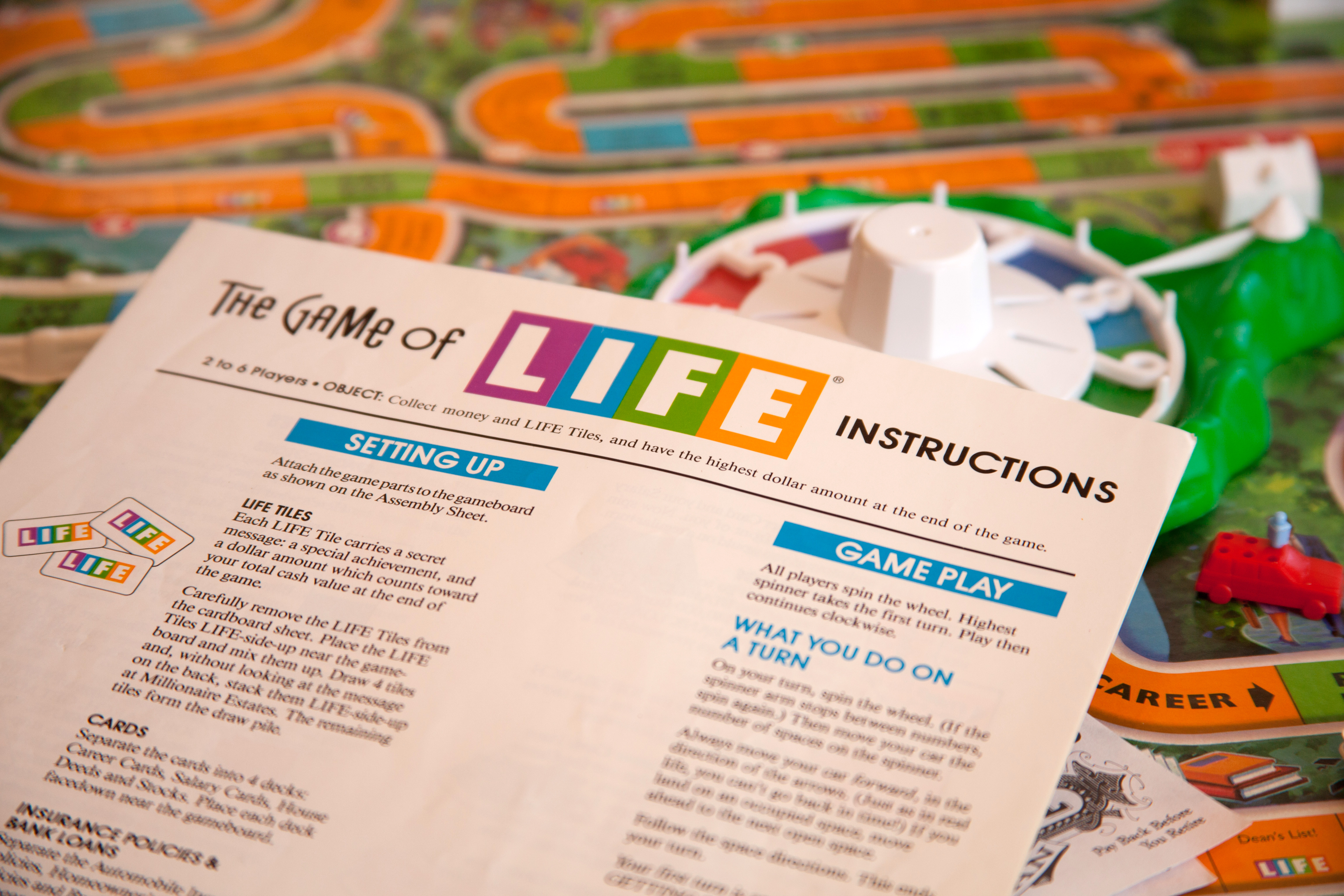 Rules For The Milton Bradley Life Game Our Pastimes