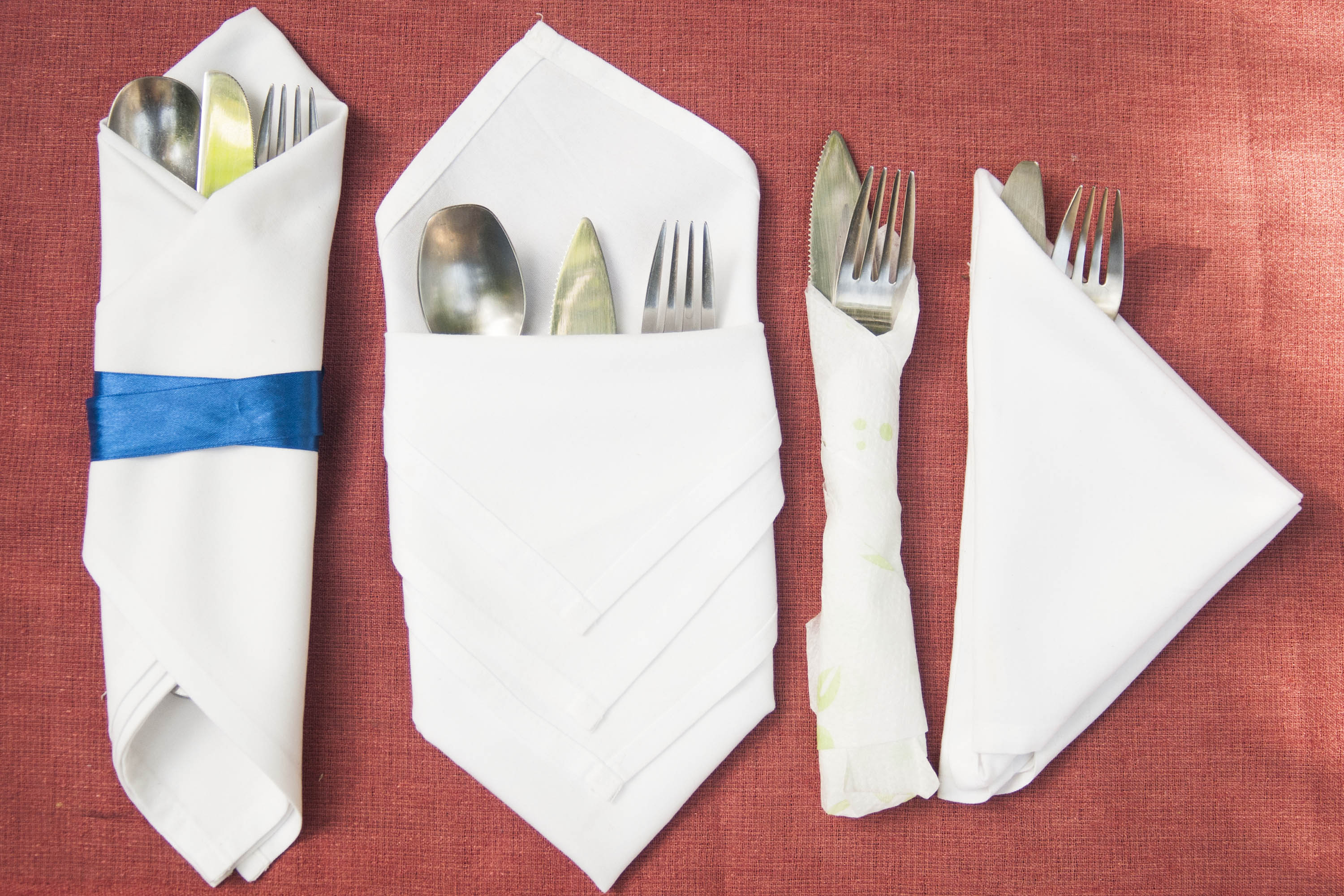 How To Fold Cutlery Into A Napkin