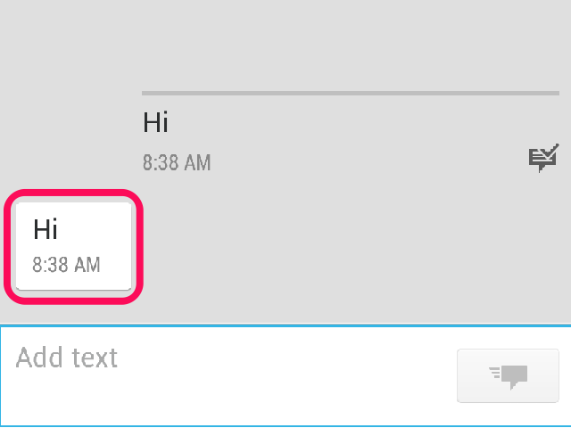 how to delete text messages android