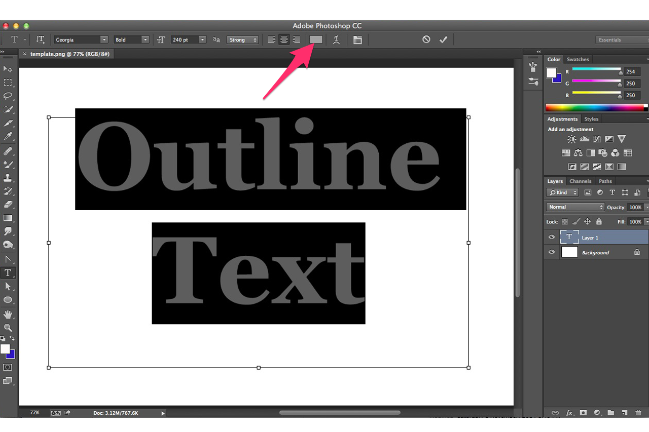 How To Draw Outline Photoshop