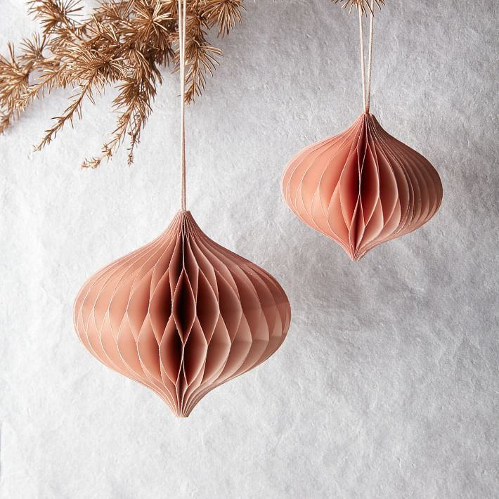 West Elm Christmas Ornaments.12 Items For A Very Millennial Pink Holiday Hunker
