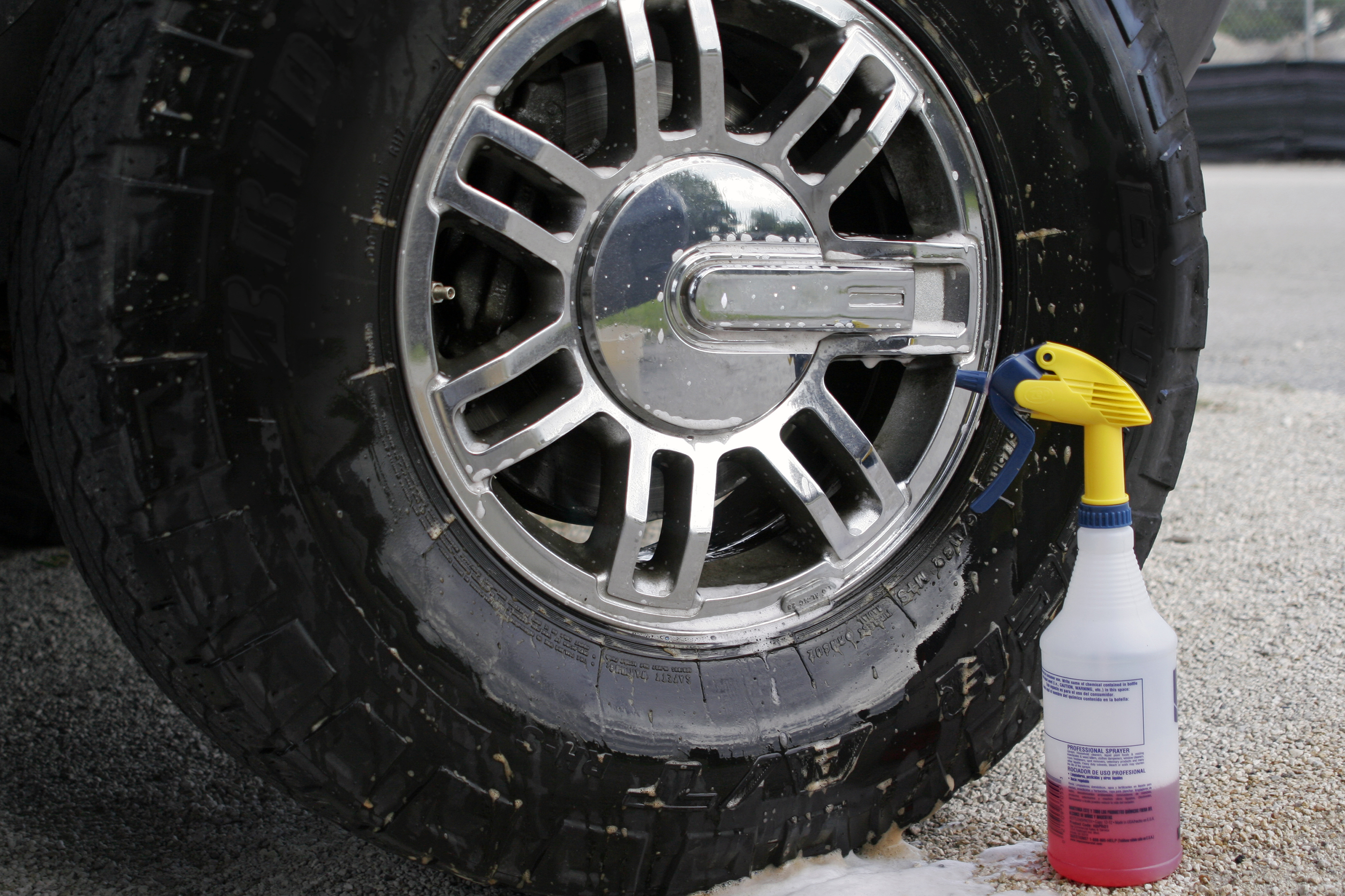 For that hard to remove rust that just doesn t want to let go of a rim go to the auto parts store and find a tire cleaner that is acid based