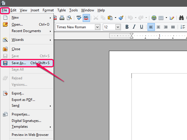 File Extensions How To Open Pages Documents With OpenOffice Writer