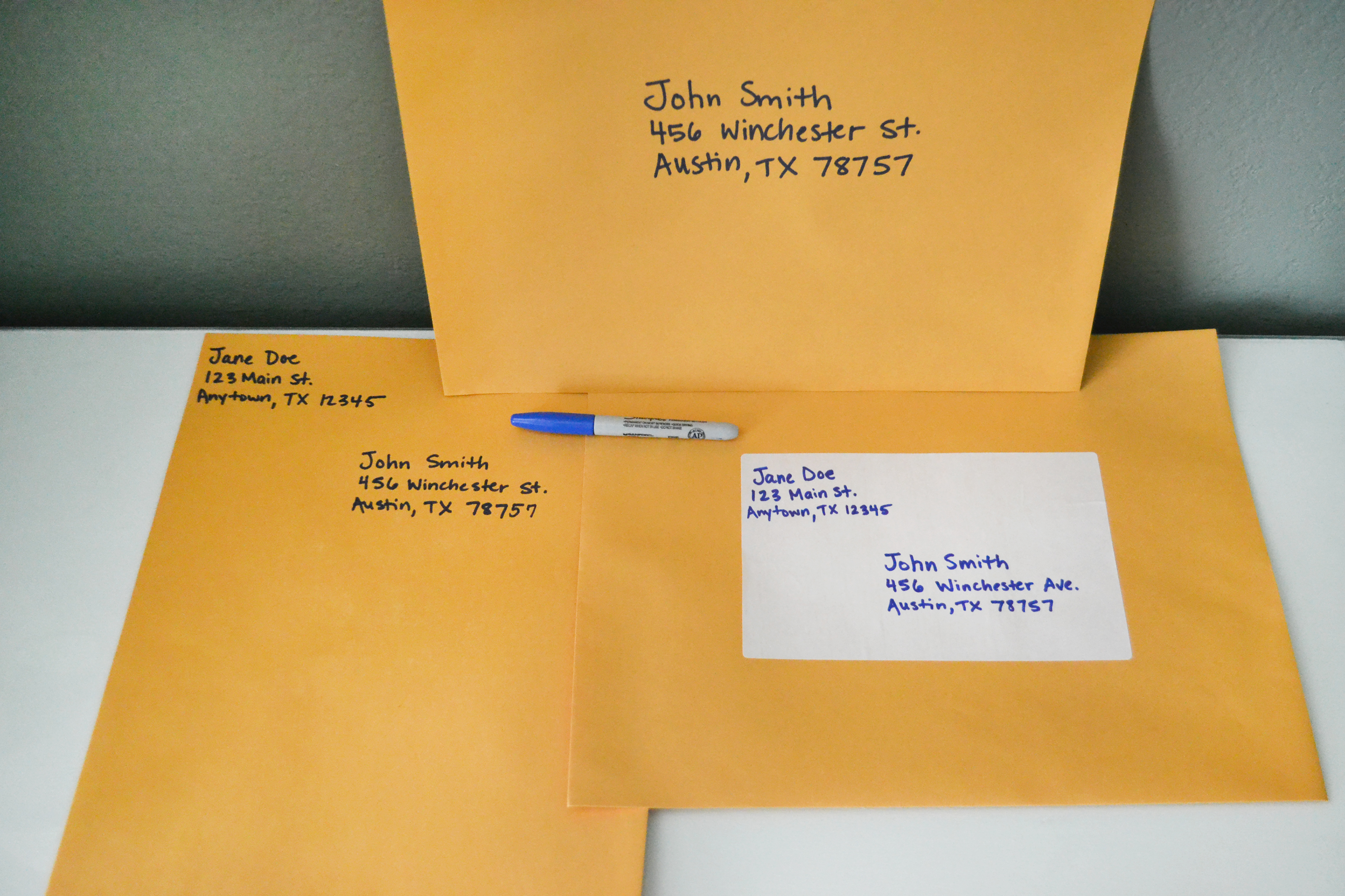 How to Address Large Envelopes – Large Mailing Labels