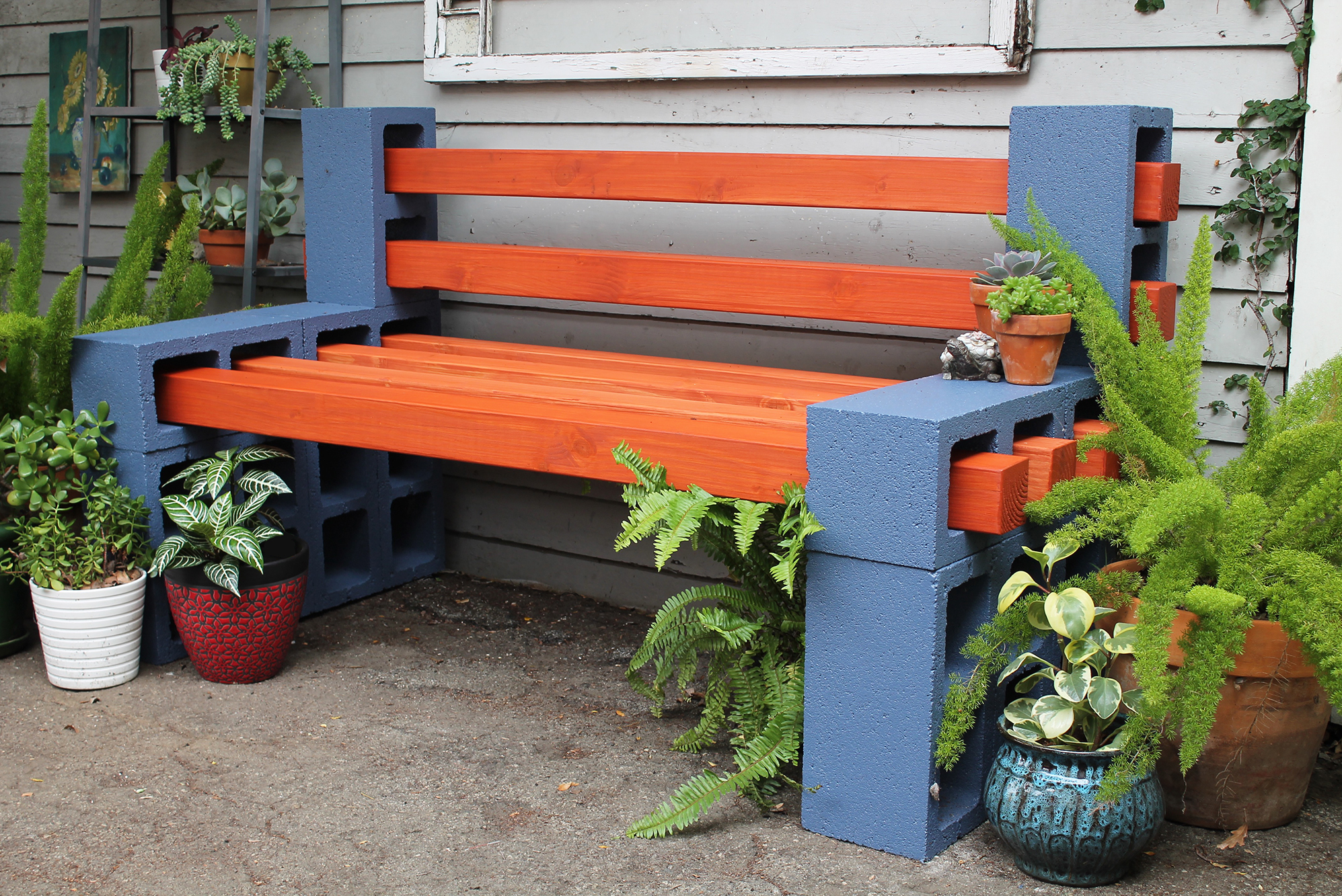 Super How To Make A Simple Outdoor Bench Hunker Squirreltailoven Fun Painted Chair Ideas Images Squirreltailovenorg