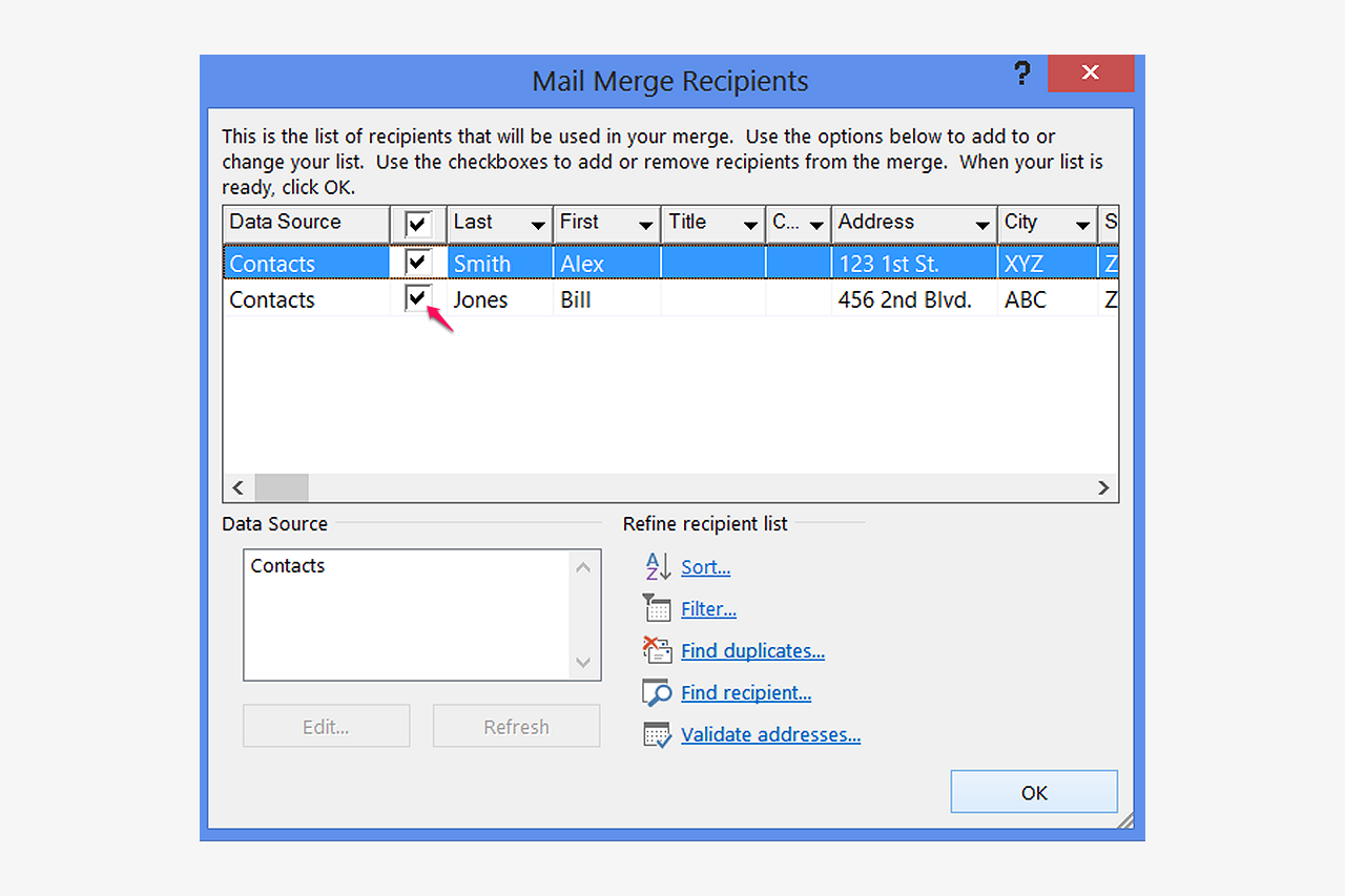 How Do You Mail Merge Using The Built In Postnet Barcoding