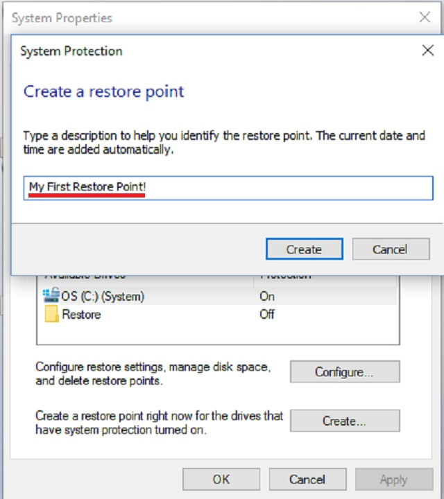 how do i restore my computer to a past date