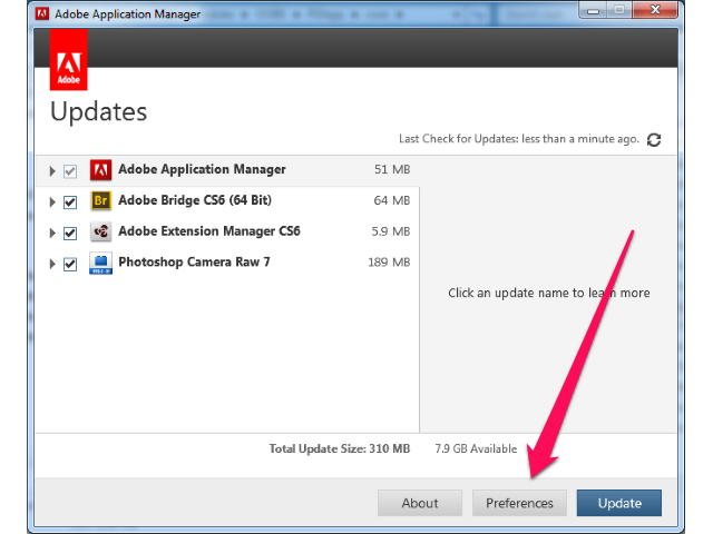 Disable Automatic Updates Adobe Creative Suite CS4 by