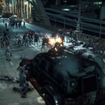 Dead Rising 3 Photo 2. Opening fire from zombie killing car.
