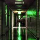 A school in the night