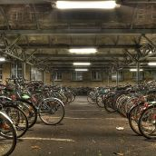 Parking Bicycles in Karlsruhe (Germany)