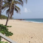 Beautiful beach behind the La Concha Hotel