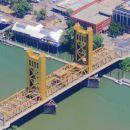 Lift bridge over the American River