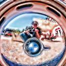 Hubcap Self Portrait